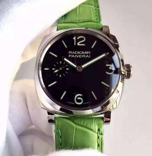 Panerai Radiomir 1940 PAM574 XF Factory  Stainless Steel Case V6F 1:1 Best Edition on Green Leather Strap P.1000