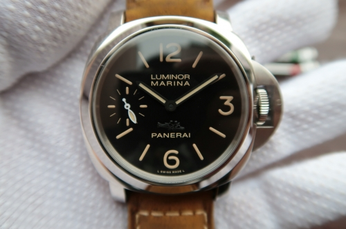 "Panerai Luminor PAM411 XF Factory  Stainless Steel Case""Firenze"" V6F Best Edition Black Dial on Brown Asso Strap 6497"