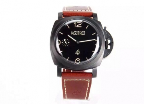 Panerai Luminor 1950 3 Days PAM 617 Black XF Factory  Ceramic Black Dial Swiss 3000