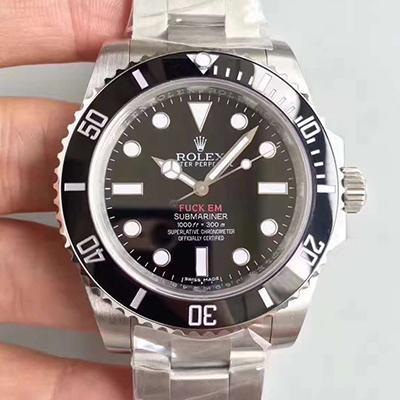 Rolex Submariner 114060 Noob Factory V8S Stainless Steel Black Dial Swiss 2836