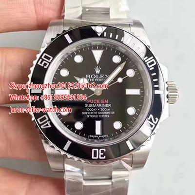 Rolex Submariner 114060 V9S Stainless Steel 904L JF Noob Factory  Black Dial Swiss 3130