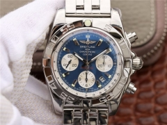 Breitling Chronomat 44 AB011012/B967/375A GF Factory Stainless Steel blue Dial Swiss 7750