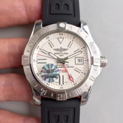 Breitling Avenger II GMT A3239011/G778/153S GF Factory  Stainless Steel White Dial Swiss 2836-2