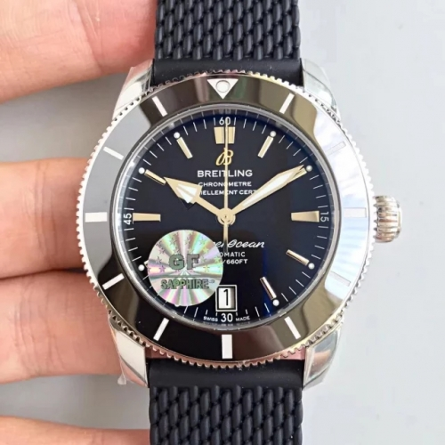 Breitling Superocean Heritage II 42MM AB201012 GF Factory  Stainless Steel Black Dial M9015