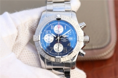 Breitling Avenger II Chronograph A1338111 Stainless Steel Case GF Factory  1:1 Best Edition Blue Dial on Stainless Steel Bracelet 7750