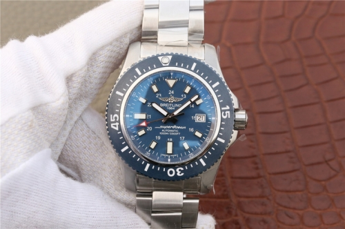 Breitling Superocean 44 Special Mariner Blue Y1739316/C959/162A GF Factory  Stainless Steel Blue Dial Swiss 2824