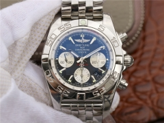 Breitling Chronomat 44 AB011012/B967/375A GF Factory   Stainless Steel Black Dial Swiss 7750