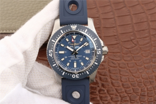 Breitling Superocean II 44MM A17392D8/C910/228S/A20SS.1 GF Factory  Stainless Steel Blue Dial Swiss 2824