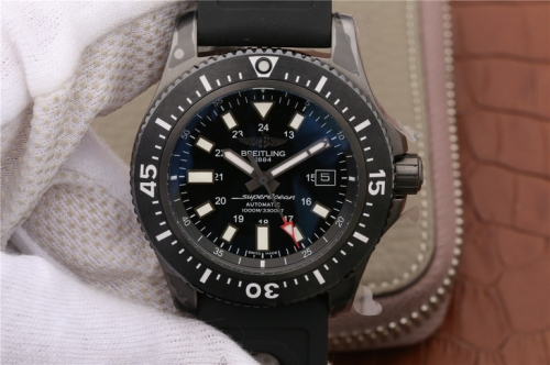 Breitling Superocean II 44MM M1739313/BE92/227S/M20SS.1 GF Factory   PVD Black Dial Swiss 2824
