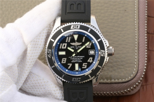 Breitling Superocean 42 Abyss Blue A1736402/BA30 GM Factory  Stainless Steel Black & Blue Dial Swiss 2824