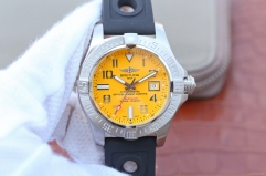 Breitling Avenger II Seawolf A1733110/BC30/152S/A20SS.1 GF Factory Black PVD Stainless Steel Yellow Dial Swiss 2824
