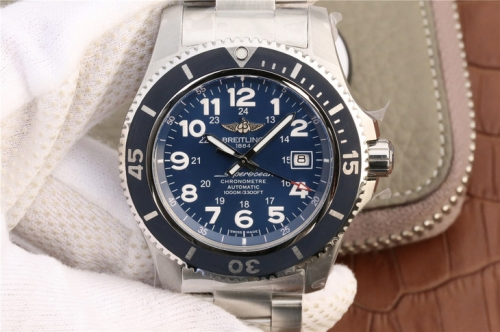 Breitling Superocean II 44MM A17392D8/C910-162A GF Factory Stainless Steel Blue Dial Swiss 2824