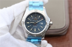 Breitling Colt Automatic A17388 Stainless Steel Case GF Factory  1:1 Best Edition Blue Textured Dial on Stainless Steel Bracelet 2824