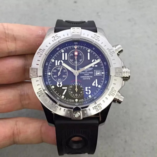 Breitling Super Avenger Limited Edition A13370 N Stainless Steel black Dial Swiss 7750
