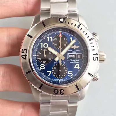 Breitling Superocean Steelfish A13341C3/C893/162A Chronograph Stainless Steel GF Factory 1:1 Best Edition Blue Dial On Stainless Steel Bracelet ETA 77