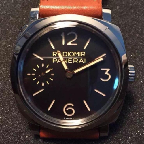 Panerai Radiomir 1940 PAM399 Stainless Steel Case 47mm SF Factory  1:1 Best Edition Black Dial on Brown Calf leather Strap A6497