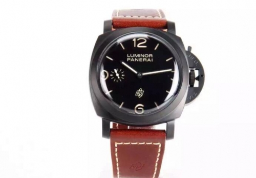 Panerai Luminor 1950 3 Days PAM 617 Noob Factory Black Ceramic Black Dial Swiss 3000