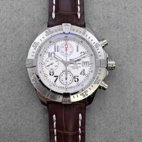 Breitling Super Avenger Limited Edition A13370 N Stainless Steel white Dial 48mm 1:1 Best Edition Swiss 7750