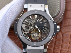 Hublot Big Bang Skeleton Tourbillon Stainless Steel & Ceramic Skeleton Dial Swiss Tourbillon