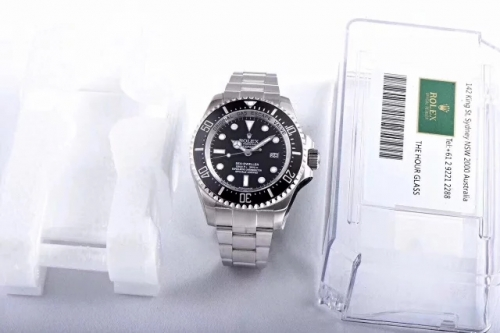 Rolex Sea-Dweller Deepsea 116660 904L Stainless Steel Black Dial AR Factory1:1 Best Edition On 904L Stainless Steel Bracelet SA.3135 (Correct Thick &