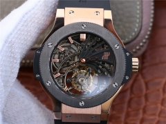 Hublot Big Bang Skeleton Tourbillon Rose Gold & Ceramic Skeleton Dial Swiss Tourbillon