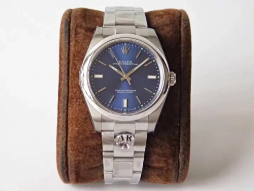 Rolex Oyster Perpetual 114300 39mm 904L Stainless Steel Case AR ARF Factory 1:1 Best Edition Blue  Dial on 904L Stainless Steel Bracelet 3132