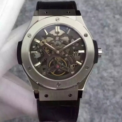 Hublot Classic Fusion Prototype Stainless Steel Black Skeleton Dial Swiss Skeleton