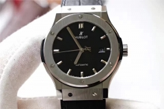 Hublot Classic Fusion 542.NX.1171.LR 42mm Black Dial Titanium Case JJ Factory 1:1 Best Edition on Black Gummy 2892