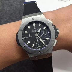 Hublot Big Bang 301.CK.1140.RX Ceramic Case Titanium Bezel HbbV6 Factory 1:1 Best Edition Black Dial On Black Rubber Strap HUB410
