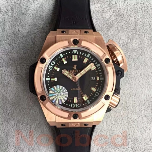 Hublot Big Bang King Power Musee Oceanographique Monaco 731.OX.1170.RX HBB V6 Rose Gold Black Dial Swiss 7750