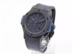 Hublot Big Bang All Black Blue 301.CI.1190.GR.ABB09 HBB V6 Ceramic Black Dial Swiss HUB4100