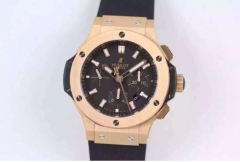 Hublot Big Bang 301.PX.1180.RX 44mm Black Dial Rose Gold Bezel Stick Marker on Black Rubber Strap HBB Factory HUB4100 ETA 7750