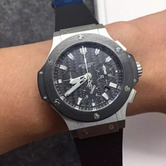 Hublot Big Bang Evolution 301.SM.1770.GR Stainless Steel Carbon Fiber Dial HBB V6F Factory  On Rubber Strap HUB4100