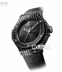 Hublot Big Bang 346.CX.1800.RX Caviar Black Ceramic 41mm Black Ceramic Dial HF Best Edition on Black Rubber Strap ETA 2824