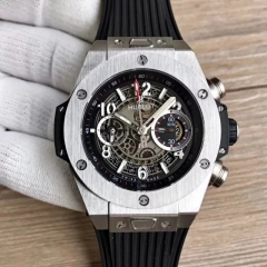 Hublot Big Bang Unico Magic Sapphire 411.JX.1170.RX Noob Factory1:1 Stainless Steel Skeleton Dial Swiss HUB1242