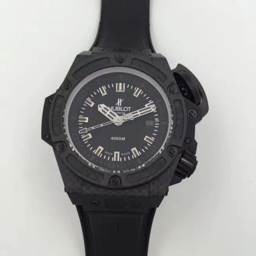 Hublot Big Bang King Power Musee Oceanographique Monaco 731.QX.1140.RX HBB V6 Carbon Fiber Black Dial Swiss 7750 ETA