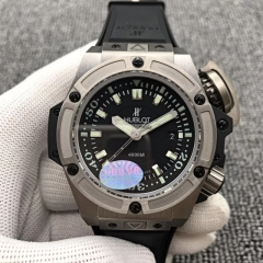 Hublot King Power OceanoGraphic 731.NX.1190.RX 48mm Diver 4000 Titanium Case HBB Factory V6  1:1 Best Edition On Black Rubber 7750