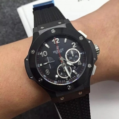Hublot Big Bang 301.CT.130.RX Ceramic Case Bezel HbbV6 Factory 1:1 Best Edition Black Dial Numeral Marker On Black Rubber Strap HUB4100