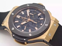 Hublot Big Bang Evolution 301.PB.131.RX HBB V6 Rose Gold Carbon Fiber Dial Swiss HUB4100