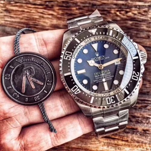 "Rolex Sea-Dweller Deepsea 116660 ""D-BLUE"" 904L Stainless Steel Blue Black Dial ARF 1:1 Best Edition ETA 3135 (Correct Thick & Material)"