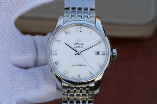 Omega De Ville Hour Vision 431.10.41.21.02.001 Co-Axial Master Chronometer 41mm 1:1 Best Edition White Dial on Stainless Steel Bracelet 8900