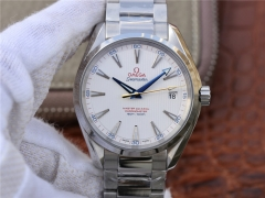 Omega Seamaster Aqua Terra 150M Captain's Watch Ryder Cup 231.10.42.21.02.002 KW Factory Stainless Steel White Dial Swiss 8500