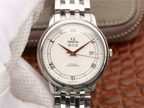 Omega De Ville Prestige 424.10.40.20.02.002 Stainless Steel Case 39.5mm MKS Factory  1:1 Best Edition V4 White Dial On Bracelet Miyota 9015