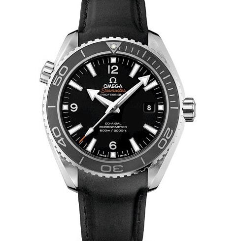 Omega Seamaster Planet Ocean 232.32.46.21.01.003 600m 45.5mm Case OM Factory V2 Best Edition Black Dial Rubber Strap Swiss 8500