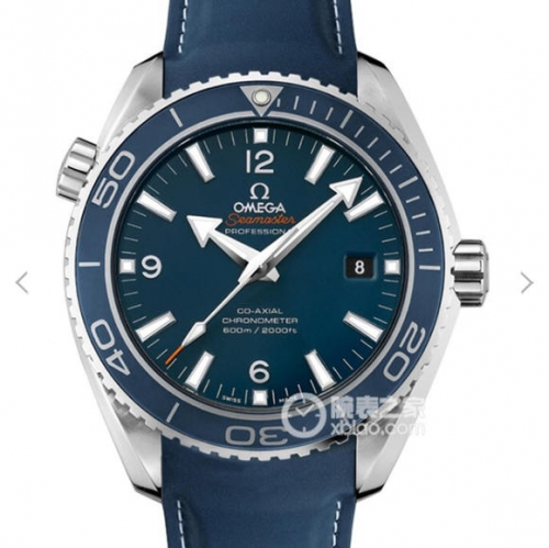Omega Seamaster Planet Ocean 232.92.46.21.03.001 600m 45.5 Case OM Factory V2 1:1 Best Edition Blue Dial Rubber Strap Swiss 8500