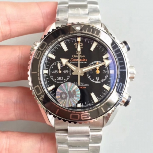Omega Seamaster Planet Ocean 215.30.46.51.01.001 600m 45mm Chronograph Working Counter OM Factory Best Edition Bracelet Swiss 9900