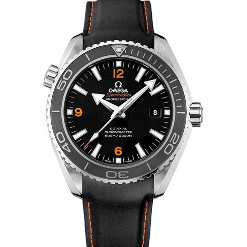 Omega Seamaster Planet Ocean 232.32.46.21.01.005 600m 45.5mm OM FactoryBlack Dial Orange Marker on Black Rubber Strap 8501