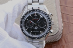 Omega Speedmaster 304.33.44.52.03.001 Moonphase Chronograph Case BF 1:1 black Dial Stainless Steel Bracelet 9300
