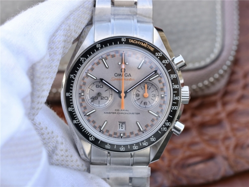 Omega Speedmaster Racing 329.30.44.51.06.001 Co-Axial Chronograph OMF 1:1 Best Edition Grey Dial on SS Bracelet Swiss 9900