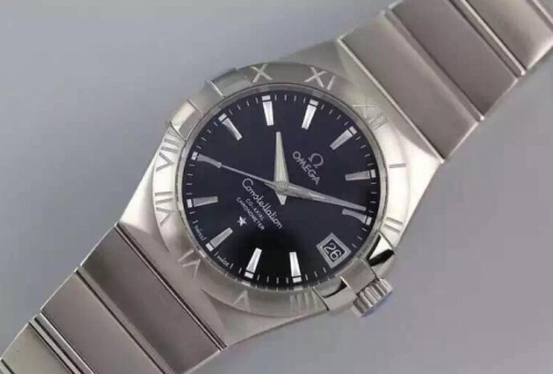 Omega Constellation 123.10.38.21.01.001 Co-Axial 38mm Black Dial V6F 1:1 Best Edition Stainless Steel Bracelet Miyota 8500